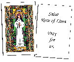 Saint Rose of Lima Holy Cards (32)