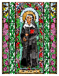 Saint Theodore Guerin  6x9 Window Cling