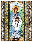 Saint Veronica  6x9 Window Cling