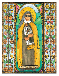 Sister Maria Lucia of Jesus  6x9 Window Cling