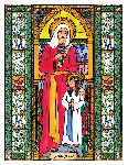 Saint Anne 6x9 Window Cling