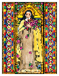 Saint Therese of Lisieux  6x9 Window Cling