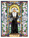 Saint Catherine Laboure 6x9 Window Cling