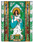 Saint Agnes 6x9 Window Cling