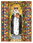 Saint Catherine of Siena 6x9 Window Cling
