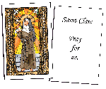 Saint Clare Holy Cards (32)