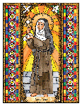 Saint Clare 6x9 Window Cling