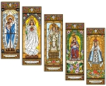 Stained Glass Mary Set 4
