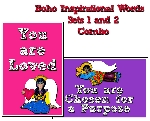 Boho Inspirational Words Sets 1 & 2 Combo