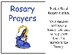 Pocket Sized Rosary Prayers- 10 Pack