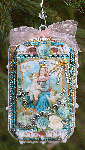 Blessed Mother Assemblage Christmas Ornament