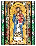 Our Lady of Loreto 6x9 Window Cling