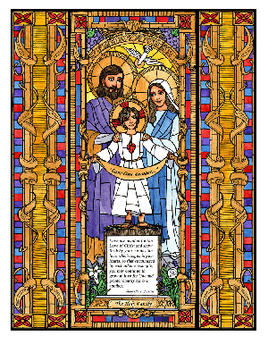 The Holy Family 6x9 Window Cling